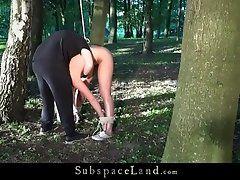 Slave suffers bondage pain rough...