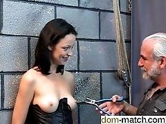 Gorgeous young girl in a bdsm...