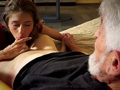 Grandpa with a fat cock hooks up...