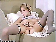 Chick masturbates and having orgasm