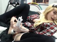Innocent Blonde Teen Girl