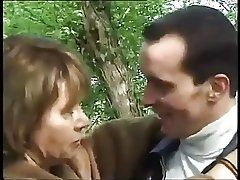 French Grannie hard sex with...