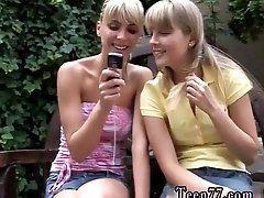 Teen anal bathroom Two blondie...