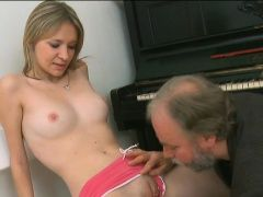 Ravishing young girl receives...