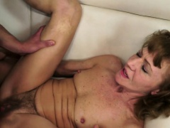 Anally fucked granny enjoys a...