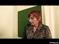 Granny and student get fucked in...