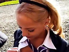 xhamster Kinky blonde student taking a...