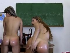 Three teen girl love squirting...