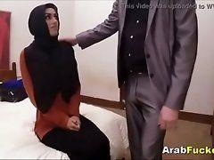 Sexy Hijab Teen Sucks