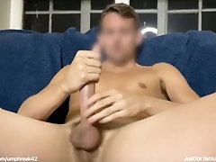 Wanking and shooting another...