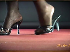 Hot blonde with high heels and...