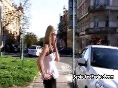 Fucking hot blond amateur on street