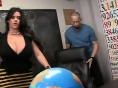 Big boobed MILF teaches sexual...