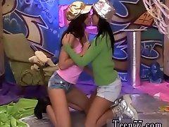 Big titty teen lesbians Hairy...